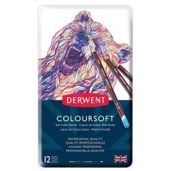 Lápices de Colores Suaves Derwent x 12