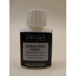 MEDIUM BRILLANTE Y GLACEADOR PARA ACRILICO SENNELIER X 75ML