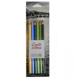 Lápices Conte de Color x 6