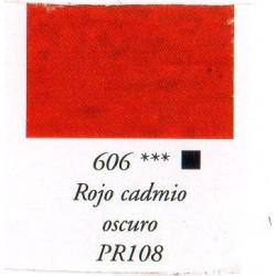 Pigmento Sennelier Ref: 606 Rojo Cad. Osc. Sust. PR108 x 120 Grs.