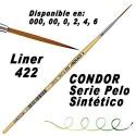 Pinceles Liner 422 Condor Nylon Mango Corto
