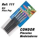 Pinceles Modeladores Condor Kit x 5