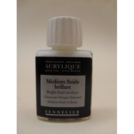 Medium Sennelier Brillante y Glaceador para Acrílico x 75 y 250 Ml.